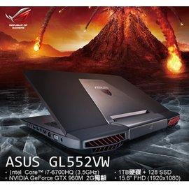 【戰鬥G】GL552VW-0061A6700HQ  GTX 960M 獨顯 2G 1TB W10
