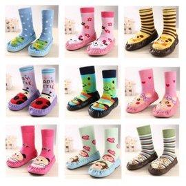 秋冬寶寶地板襪 防滑早教純棉嬰兒鞋襪 鬆口學步襪厚底兒童襪子【HH婦幼館】