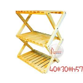 探險家戶外用品㊣TB013 收疊式三層木質置物架40*30*57 極輕量2.3KG 折疊桌 置物桌 鞋架 廚具架