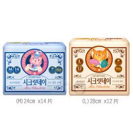 韓國 SECRETDAY夏洛特小姐的秘密 輕柔棉衛生棉^(M L^) 2款~美麗販售機~