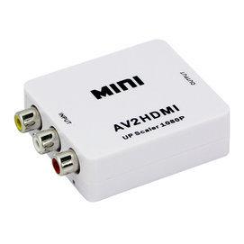 AV转HDMI转接头转接器 AV to HDMI萤幕红白黄梅花头输入RCA转HDMI电视头转接HDMI转换盒【3C博士】【TV-01】