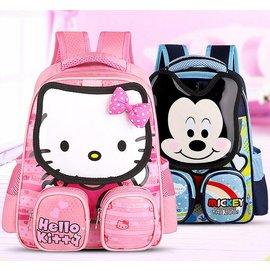卡通日韓Hello Kitty雙肩背包兒童書包 迪士尼米奇小學生幼兒園書包 卡通KT貓立體