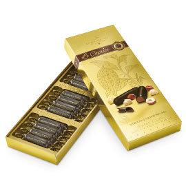瑞士金榛果夾心黑巧克力102g