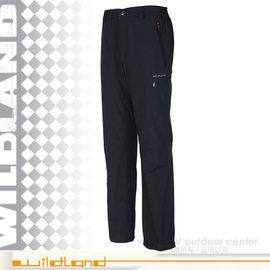 ~荒野 WildLand~男 雙層系列 防潑水防風保暖長褲.休閒長褲 外層柔軟內刷毛保暖.