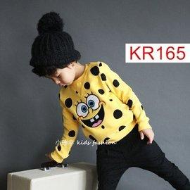 小確幸 KR165 款毛線圈黃色海棉寶寶休閒上衣 潮服男女童都適穿