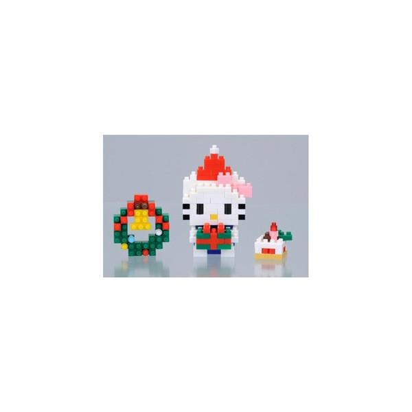 hello kitty 圣诞礼物 nbgc-001 日本河田积木 nano block