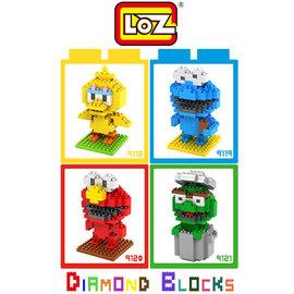 LOZ 迷你鑽石小積木 芝麻街 系列 樂高式 玩具 益智玩具  大盒款