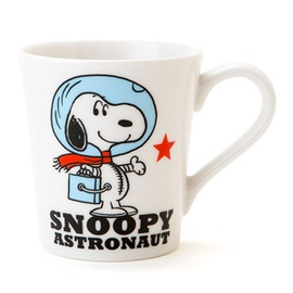 史努比宇宙飛行員白色陶瓷馬克杯 把手陶瓷杯 咖啡杯