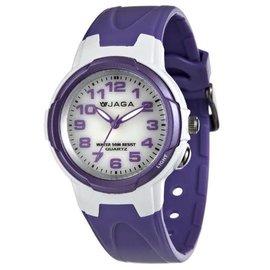 AQ71A~DJ 捷卡 JAGA 指針錶 白面 粉紫橡膠 33mm 女錶 小錶 童錶 時間