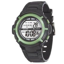 M1085~AF 黑綠 JAGA 捷卡 多 電子錶 休閒錶 38mm 手錶 女錶 男錶