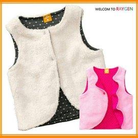 童裝 寶寶點點雙色棉絨兩面穿保暖背心 馬甲【HH婦幼館】