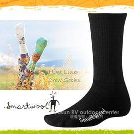 【美國 SmartWool】美國製造 美麗諾羊毛 Hike Liner 輕量中高筒登山健行羊毛裡襪/戶外內襪.排汗襪.保暖.彈性尼龍.吸濕.抗臭/SW114 黑