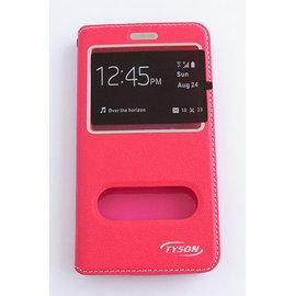 TYSON ASUS ZenFone Go(ZC500TG) 雙視窗磁扣側翻手機保護皮套 桃 &另有 ZenFone 3 (ZE552KL)/Zenfone go (ZB450KL) 歡迎詢問