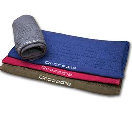 【HJC087】Crocodile鱷魚牌 方格品味毛巾 1入 條