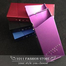 ~ 1011 小舖 ~女性 涼菸盒  涼菸菸盒 金屬鋁製 上彈蓋 菸盒  香煙盒   媲美