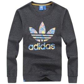 2015 Adidas三葉草男裝保暖衛衣 男士三葉草印花圓領長袖針織衛衣 裝上衣 潮流氣質