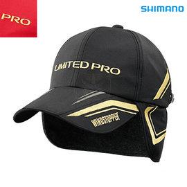 ◎百有釣具◎SHIMANO NEXUS LIMITED PRO CA-116N 防寒保暖護耳釣魚帽 黑/紅