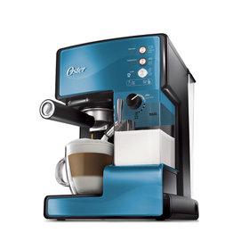 美國OSTER 奶泡大師義式咖啡機 BVSTEM6602 PRO升級版 藍色款 ◤贈OSTER磨豆機+咖啡豆◢