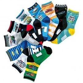 ~~阿布 ~~~AQ47~男中大童工程車汽車圖案短襪寶寶襪兒童襪子學生襪 3雙一組 15~
