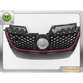 泰山美研社 D2230 GOLF 5 MK5 GTI式樣 歐規 亮黑 紅線 蜂巢水箱罩