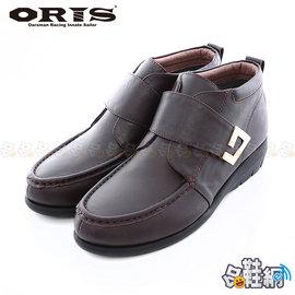 ~哈鞋網~ORIS 女款 淑女品味 超輕盈Q彈柔軟橡膠底 中筒 黏扣式 休閒鞋 SB147