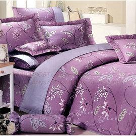 ~Victoria~純棉單人四件式全套床罩組~紫玫瑰_TRP多利寶