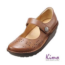 減壓典雅厚底手縫鞋 風情棕K15WF011585 牛皮•手縫鞋•舒適寬楦~Kimo德國 氣