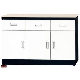 ~台北家福~^(FB284~2^)黑白配4尺石面碗盤櫃 櫃
