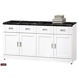 ~台北家福~^(FB285~2^)艾菲爾烤白5.3尺碗盤櫃 櫃下座