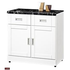 ~台北家福~^(FB285~3^)艾菲爾烤白2.7尺碗盤櫃 櫃下座