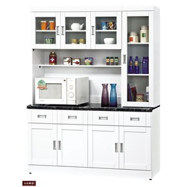 ~台北家福~^(FB286~1^)艾菲爾烤白5.3尺碗盤櫃 櫃組