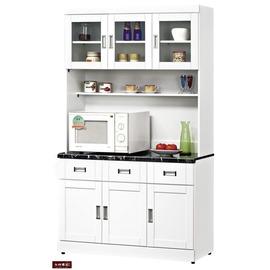 ~台北家福~^(FB286~3^)艾菲爾烤白4尺碗盤櫃 櫃組