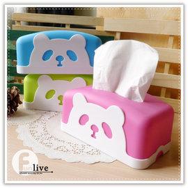 【Q禮品】A2689 貓熊面紙盒/面紙套/紙巾架/抽取式衛生紙盒/餐巾紙盒/熊貓 動物面紙盒