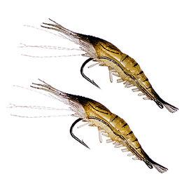 ◎百有釣具◎POKEE 附鉤 軟餌蝦 有倒鉤 超逼真