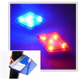 【Q禮品】A2694 菱形LED車尾燈/腳踏車尾燈/後燈/夜間安全/警示燈/自行車燈/閃光車尾燈,附固定環