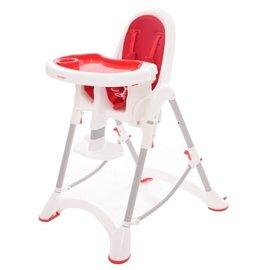 【紫貝殼】『DE06』台灣製 myheart 折疊式兒童安全餐椅(蘋果紅)【公司貨】【買就送一支美國 正品 Pura 不鏽鋼奶瓶/原價899元】