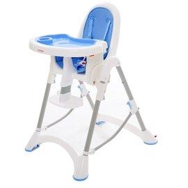 【紫貝殼】『DE06』台灣製 myheart 折疊式兒童安全餐椅(天空藍)【公司貨】【買就送一支美國 正品 Pura 不鏽鋼奶瓶/原價899元】