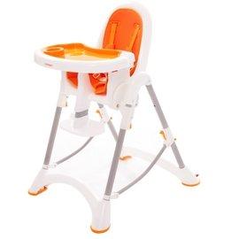 【紫貝殼】『DE06』台灣製 myheart 折疊式兒童安全餐椅(甜甜橘)【公司貨】【買就送一支美國 正品 Pura 不鏽鋼奶瓶/原價899元】