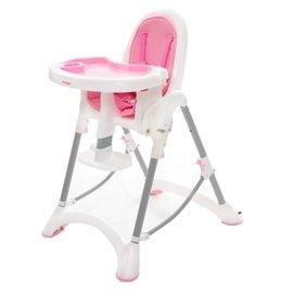 【紫貝殼】『DE06』台灣製 myheart 折疊式兒童安全餐椅(蜜桃粉)【公司貨】【買就送一支美國 正品 Pura 不鏽鋼奶瓶/原價899元】