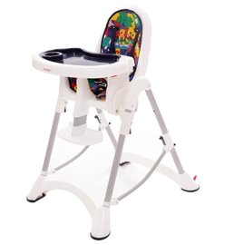 【紫貝殼】『DE06』台灣製 myheart 折疊式兒童安全餐椅(卡通藍)【公司貨】【買就送一支美國 正品 Pura 不鏽鋼奶瓶/原價899元】