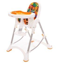 【紫貝殼】『DE06』台灣製 myheart 折疊式兒童安全餐椅(卡通橘)【公司貨】【買就送一支美國 正品 Pura 不鏽鋼奶瓶/原價899元】