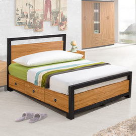 ~Homelike~ 黑森林床架組~單人3.5尺^(不含床墊^)  床台 床架 房間組
