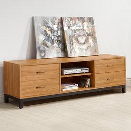 ~Homelike~ 黑森林6尺電視櫃 視聽櫃 置物櫃 低櫃 書櫃 矮櫃 收納櫃 客廳