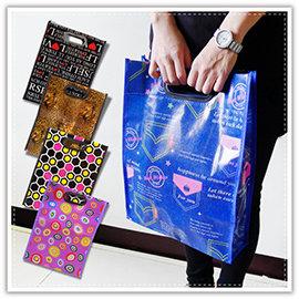 【Q禮品】B2682 手提花漾防水購物袋/文件袋/手提袋/補習袋/手提包/環保購物袋