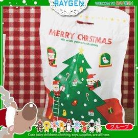 禮品包裝袋 聖誕老公公聖誕樹塑料袋 挖口提袋 單售【HH婦幼館】