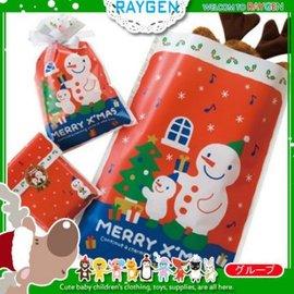 烘焙餅乾聖誕X'MAS雪人糖果禮物平口袋 單售【HH婦幼館】