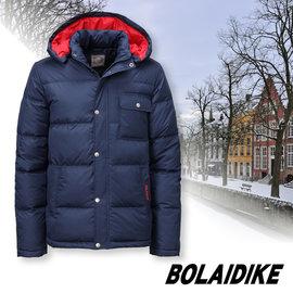 【波萊迪克bolaidike】男新款 立體輕量防潑水透氣保暖羽絨外套(帽可拆)/蓄熱防風夾克(100%FTC 水鳥羽絨)登山滑雪衣.賞雪_深藍 TF055