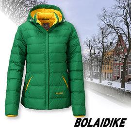 【波萊迪克bolaidike】女新款 立體輕量防潑水透氣保暖羽絨外套(帽可拆)/蓄熱防風夾克(100%FTC 水鳥羽絨)登山滑雪衣.賞雪_草綠 TF058