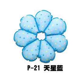 TWC~  Petals 花朵寵物防舔咬頭套保護圈 ~~ 新型專利 ~~  XS~天星藍