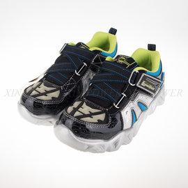 SKECHERS (童) 男童系列 電燈鞋 慢跑鞋 - 90460LBKSL